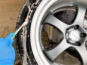 タイヤプリント側面洗浄汚れ落とし