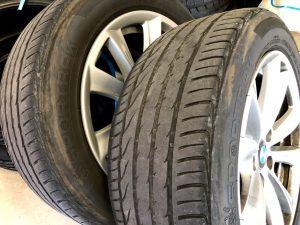 輸入車BMW5シリーズF11ランフラットタイヤ交換