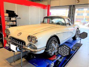 コルベットC1アライメント調整旧車輸入車画像