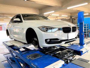 BMW3シリーズF30の持ち込みランフラットタイヤ交換