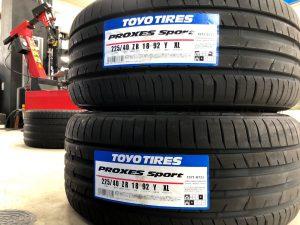 トーヨータイヤのプロクセススポーツタイヤサイズ225/40R18と255/35R18をタイヤ交換
