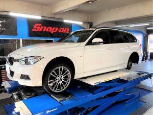 BMW3シリーズF31の持ち込みランフラットタイヤ交換